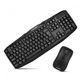 Беспроводная клавиатура + мышь Crown CMMK-952W black