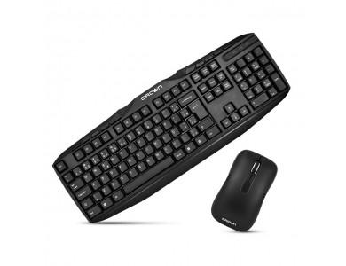 Беспроводная клавиатура + мышь Crown CMMK-952W black в Алматы