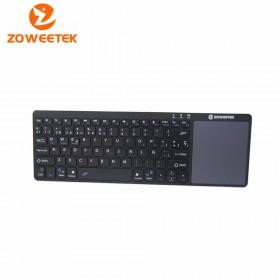 Клавиатура беспроводная bluetooth Zoweetek Rii K12BT (русские буквы) + TouchPad