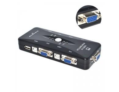 KVM Switch VGA + USB 4 port (FJ-4UA)