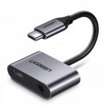 Конвертер USB 3.1(m) Type C на Audio 3.5mm + порт Type C для зарядки UGREEN