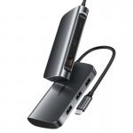 Конвертер USB 3.1(m) Type C на HDMI/LAN/USB 3.0 HUB 3 port UGREEN