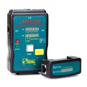 Кабельный тестер для RJ45, RJ11 и USB