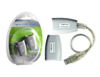 Купить в Алматы USB Extender (удлинитель USB сигнала до 50м. без установки драйверов)