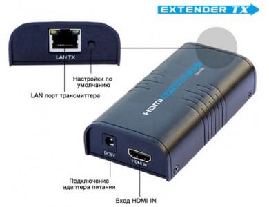 LenKeng LKV373TX (удлинитель HDMI сигнала до 120м., передатчик)