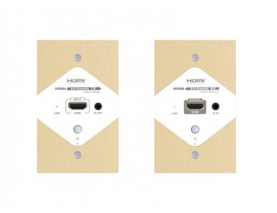 LenKeng LKV383W-ES (удлинитель HDMI, 120м, UTP, в корпусе настенной розетки)