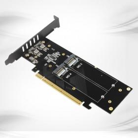 Переходник для 4xM.2 NVMe, PCI-E 3.0x4, Raid