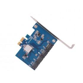 Контроллер PCI-E на 4 SATA III, 6G, Chia майнинг