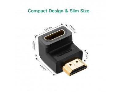 Переходник HDMI(f) - HDMI(m) 90° UGREEN
