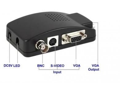 Конвертер с BNC + S-Video на VGA