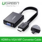 Конвертер с HDMI на VGA с поддержкой аудио (UGREEN)