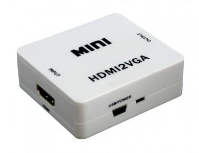 Конвертер с HDMI на VGA с поддержкой аудио