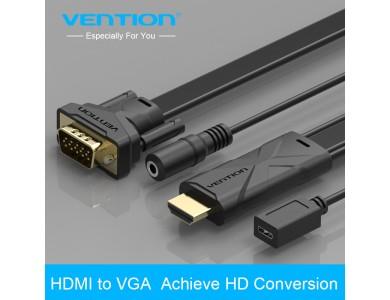 Кабель с HDMI на VGA с поддержкой аудио, 2m., Vention в Алматы