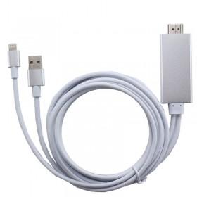 Конвертер 8-pin (Lightning) на HDMI для iPhone 5 / 5s / 6 / 6s