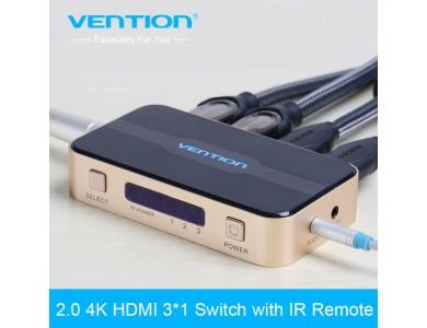 HDMI Switch 3 порта (аудио выход Toslink и 3,5'' miniJack), Vention в Алматы