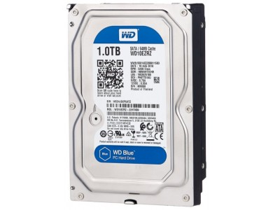 Жесткий диск 1Tb HDD WD Blue (WD10EZRZ) 5400rpm, SATA 6Gb/s, 64MB, 3.5""