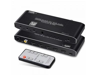 HDMI Switch 4x1 с экстрактором звука и ARC