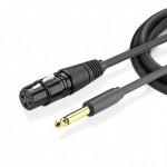Кабель Audio(m) 6.35mm - XLR(f), 2m. UGREEN