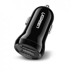 Адаптер автомобильная зарядка (2хUSB, 2.4А + 2,4A) UGREEN