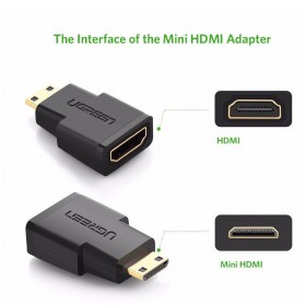Переходник HDMI(f) - mini HDMI(m) UGREEN
