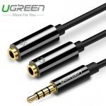 Кабель адаптер 2*Audio(f) 3.5mm - Audio(m) 3.5mm (UGREEN)