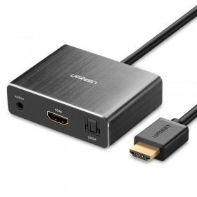 Конвертер HDMI на HDMI+AUDIO (SPDIF+ 3,5mm) UGREEN