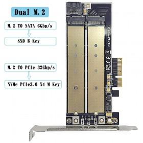 Переходник для M.2 NVMe + M.2 NGFF с PCI-E 3.0x4 UGREEN