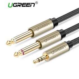 Кабель Audio(m) 3.5mm - 2*Audio(m) 6.3mm UGREEN