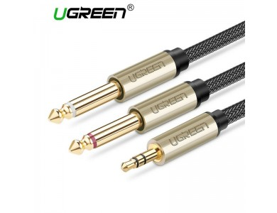 Кабель Audio(m) 3.5mm - 2*Audio(m) 6.3mm UGREEN