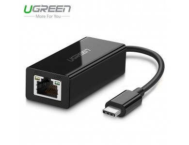 Конвертер с USB 3.1(m) Type C на LAN (Внешняя USB 3.1 —1Гбит/с сетевая карта) UGREEN