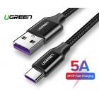 Кабель USB(m) - USB 3.1(m) Type C, 5A, 1m UGREEN