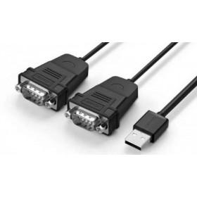 Конвертер USB(m) на 2xCOM(f) RS232, 1.5m UGREEN