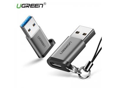 Переходник USB 3.1(f) Type C - USB 3.0(m) UGREEN