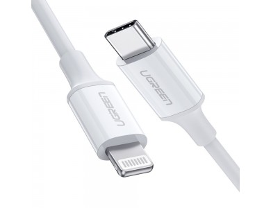 Кабель USB 3.1(m) Type C- Lightning(m) 8-pin, 1m UGREEN