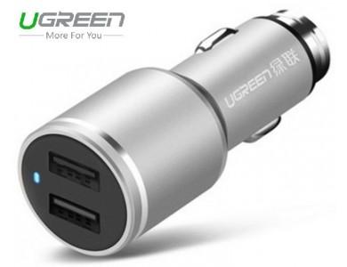 Адаптер в прикуриватель на 2 USB - автомобильная зарядка UGREEN на 24W
