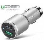 Адаптер в прикуриватель 2*USB/30W (UGREEN)
