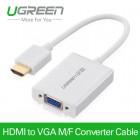 Конвертер с HDMI на VGA алюминиевый корпус (UGREEN)