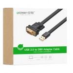 Кабель конвертер с USB(m) на COM(m) RS232 (UGREEN) FTDI