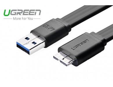 Кабель USB 3.0(m) - micro USB 3.0(m), плоский, 0.5m., (UGREEN)