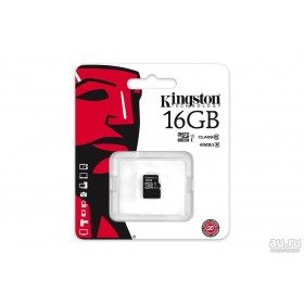 Карта памяти microSDHC Kingston 16GB (UHS-I, class 10)